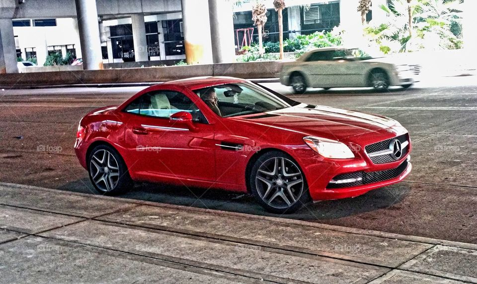 Red Mercedes Benz... @Ft Lauderdale airport