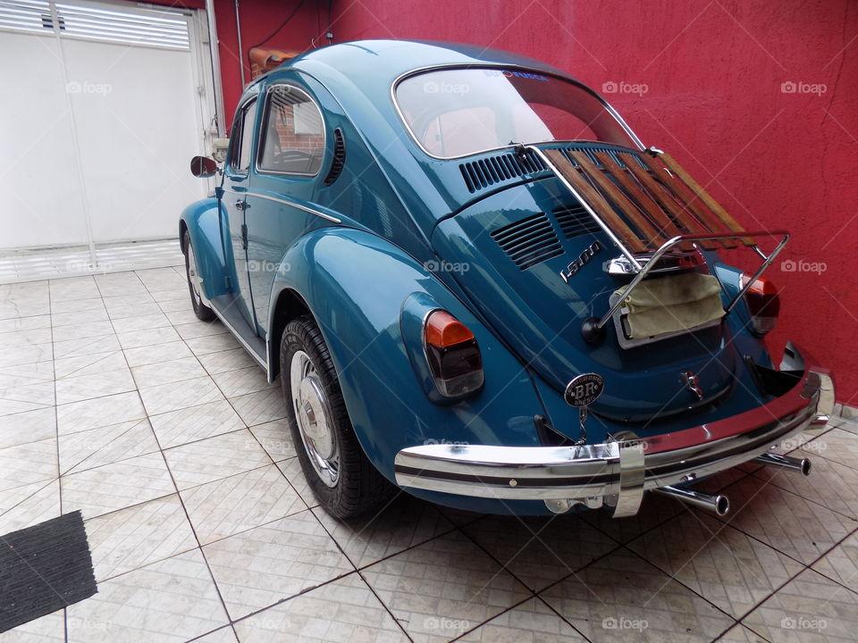 Retro luxurious car