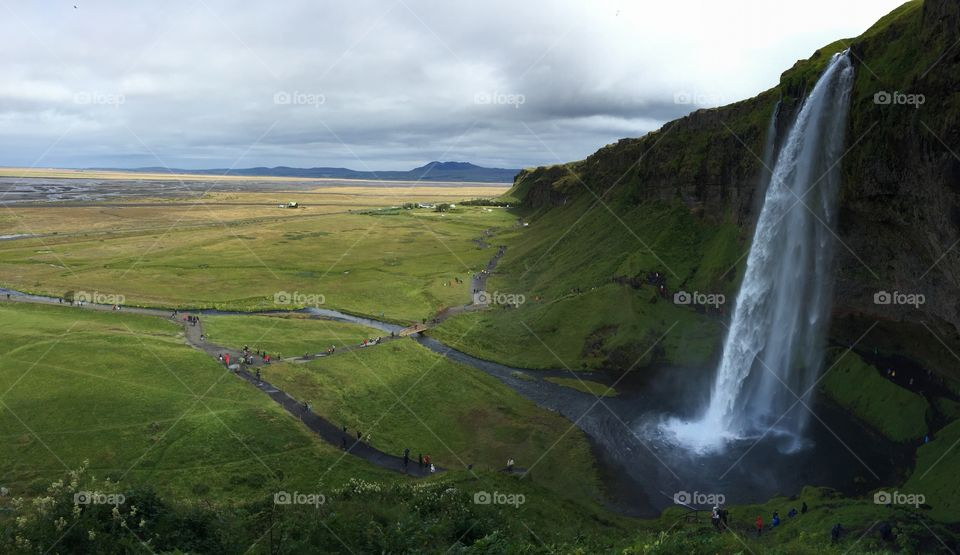 A magnificent falls overlooking