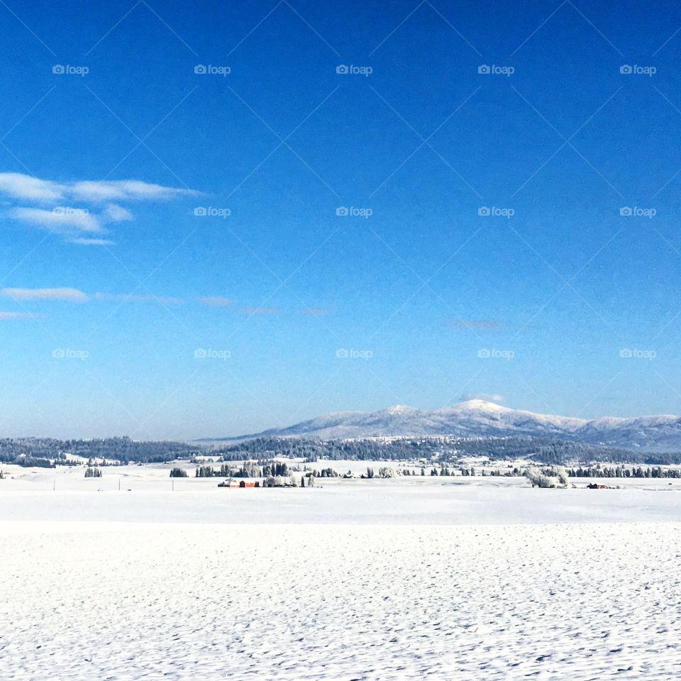 mount spokane during winter