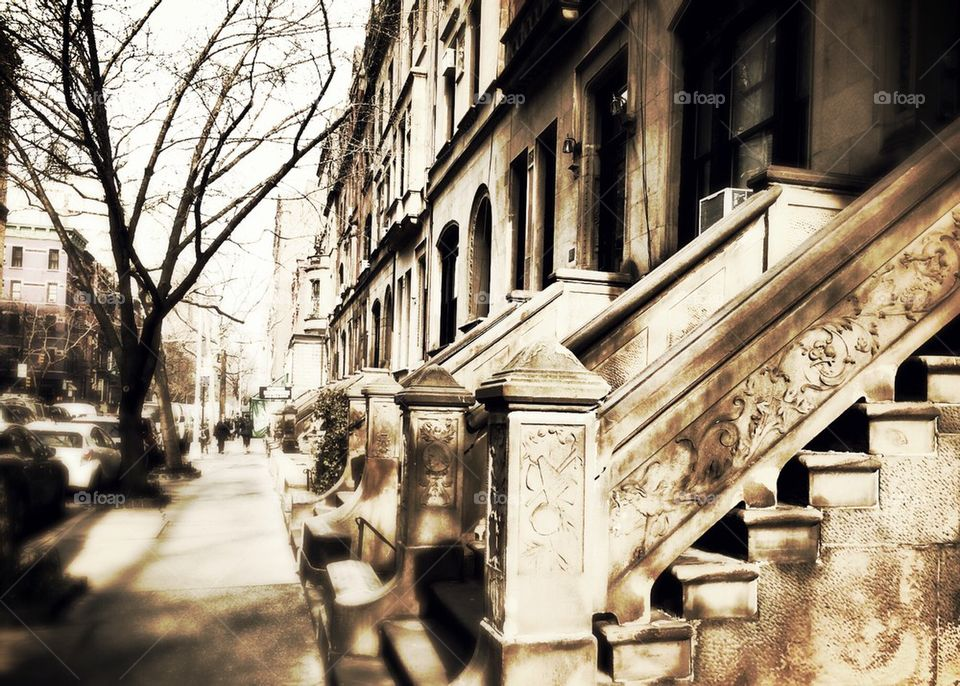 Brownstones in the Upper West Side