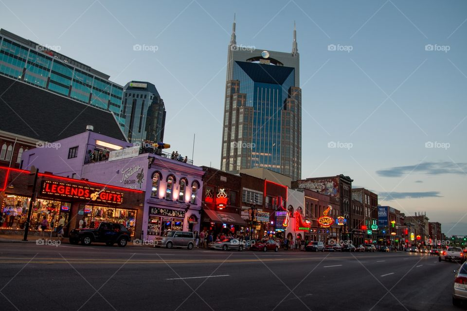 Broadway in Nashville, Tennessee