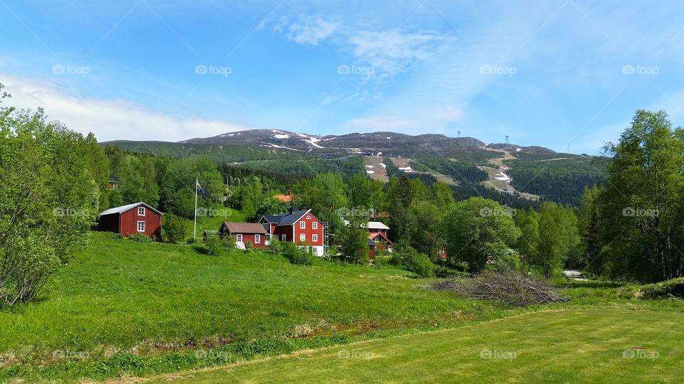 View of Åreskutan, in Sweden.