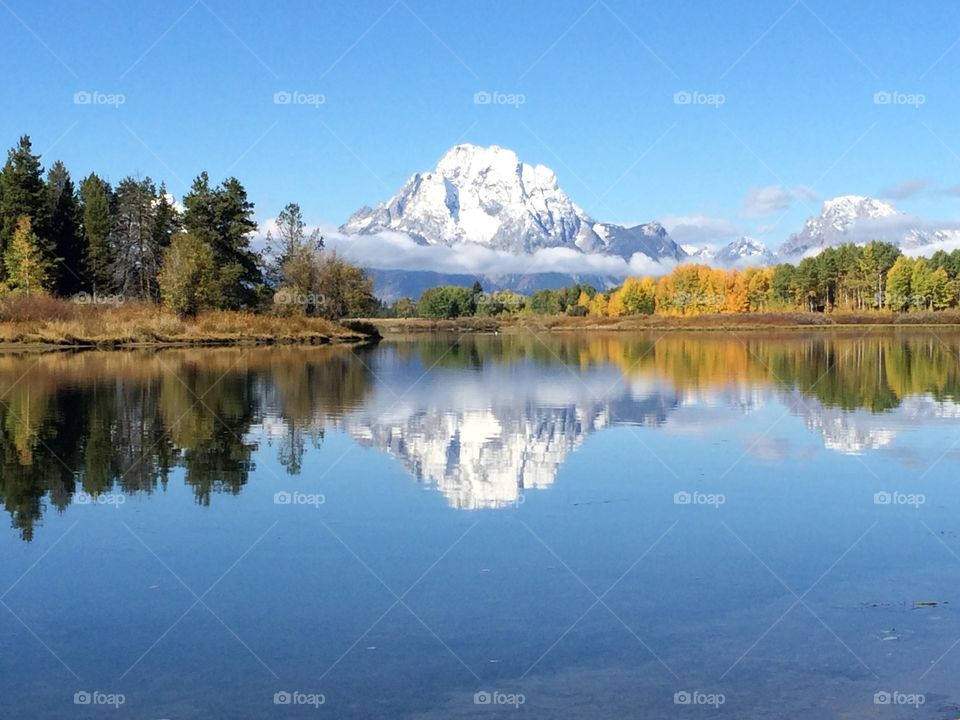 Oxbow bend in grand teton national park, Wyoming