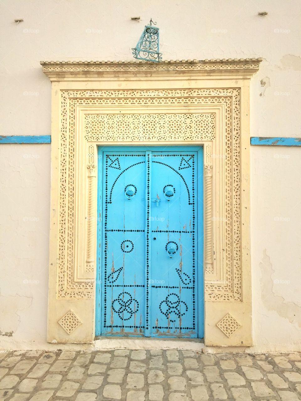 Traditional door in Tunisia