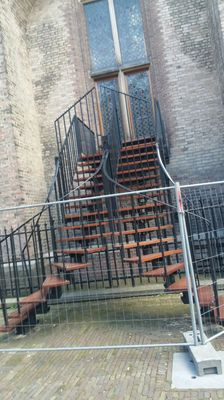 Ascension. stairs, escalation, metal railing,