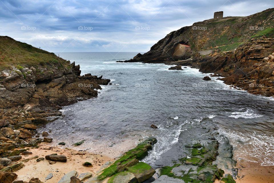 Santa Justa beach, Cantabria, Spain.
