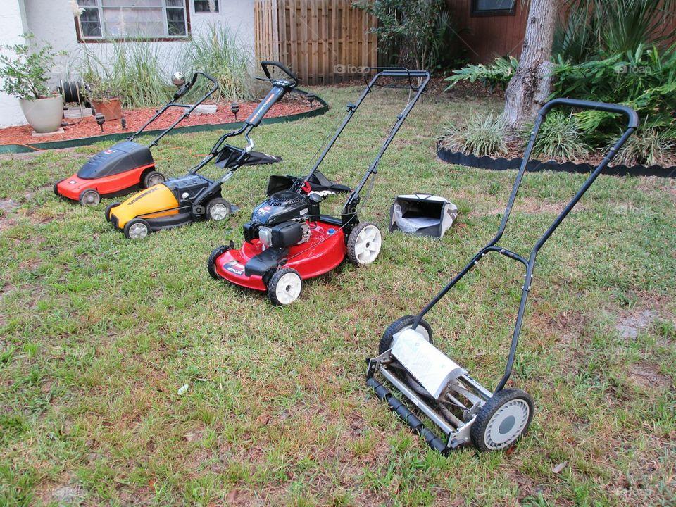 4 lawnmowers, how big is the yard