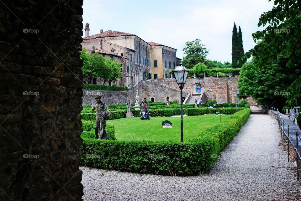 Palazzo Gonzaga's garden - Volta Mantovana, Lombardy, Italy.