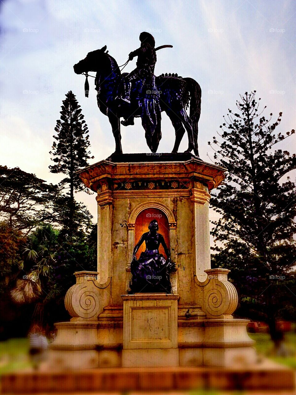 Prince Srikanta Wadyar. This one is the statue of Prince Srikanta Wadyar (1953 - 2013), the only son of the last ruling Maharaja of Mysore, that
