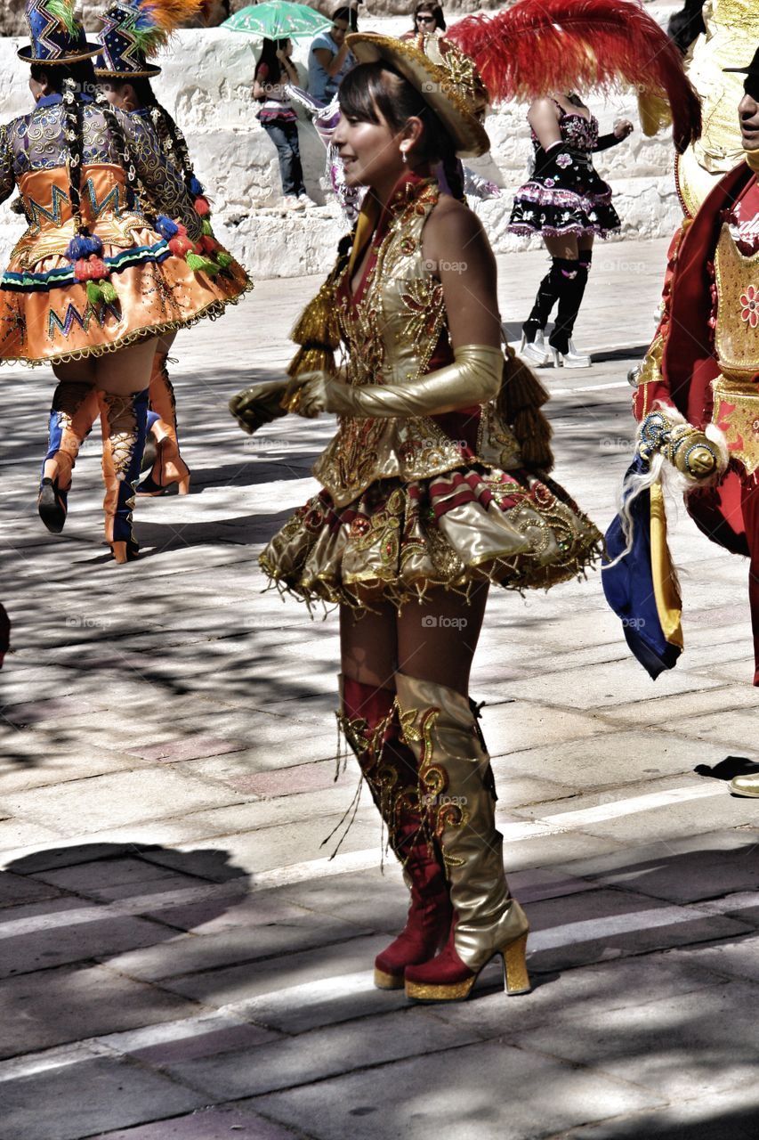 Beautiful lady, Chilean fiesta, Atacama desert, Chile  . Beautiful lady, Chilean fiesta, Atacama desert, Chile