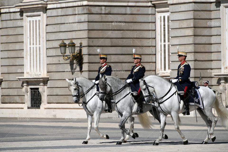 Cambio de guardia, Palacio Real, Madrid, España - Change of guard, Palacio Real, Madrid, Spain