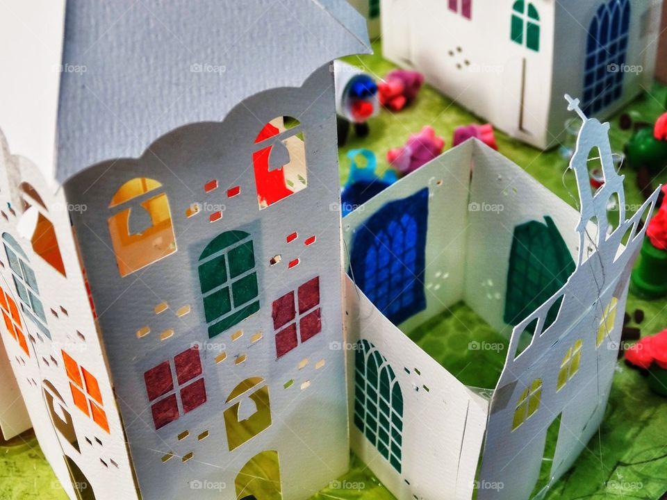 Colorful Paper Castle