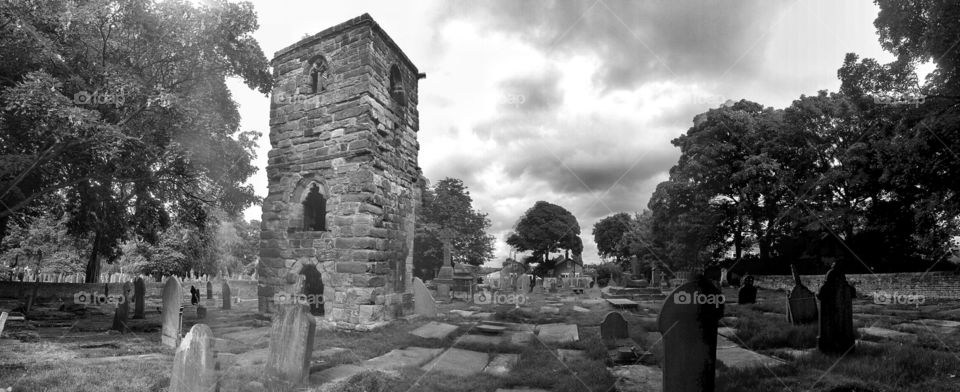 cemetery abbey. abbey ruins at the cemetery