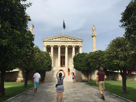 Admiring the Athens city landscape