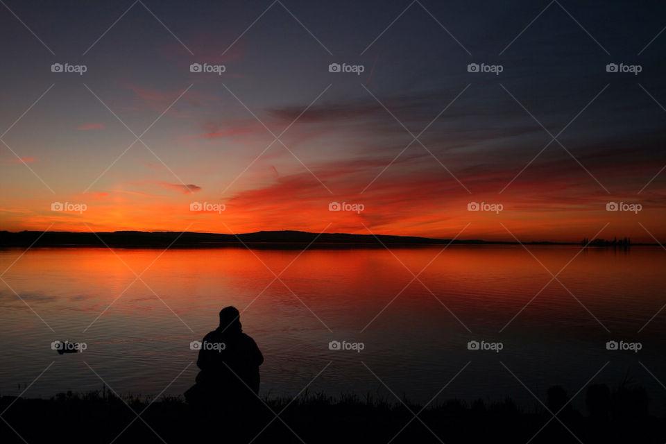 ocean water dawn loneliness by dryair