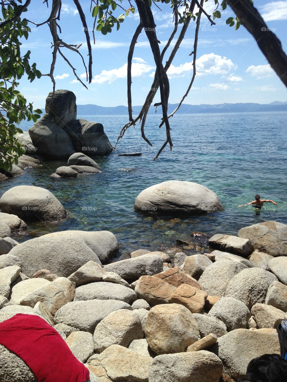 The SPOT 🌴 #tahoetropics. Swam all day