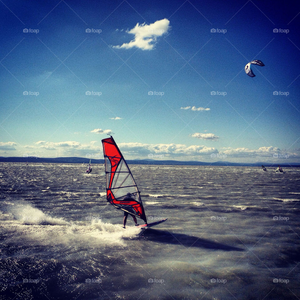 summer water lake kite by lelencjud