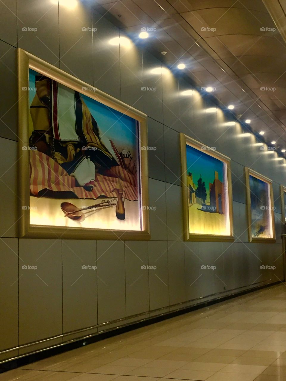 Airport Art Gallery. Who Knew?  Kuwait Airport