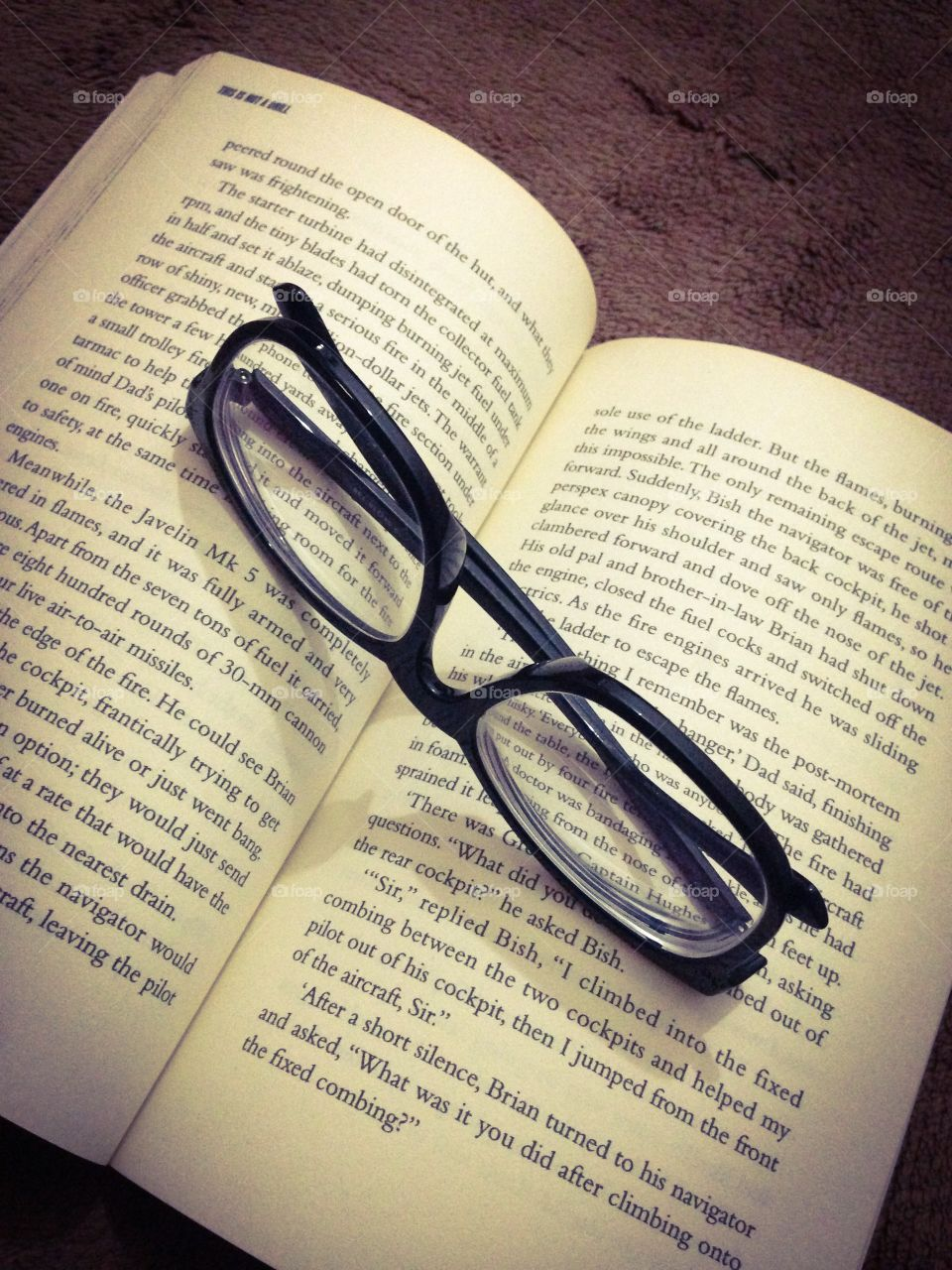 Reading. Book and spectacles