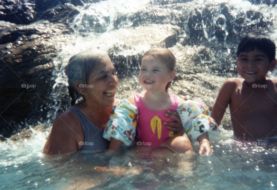 Grams and Stephie. This is one of my first trips to a water park with my grams