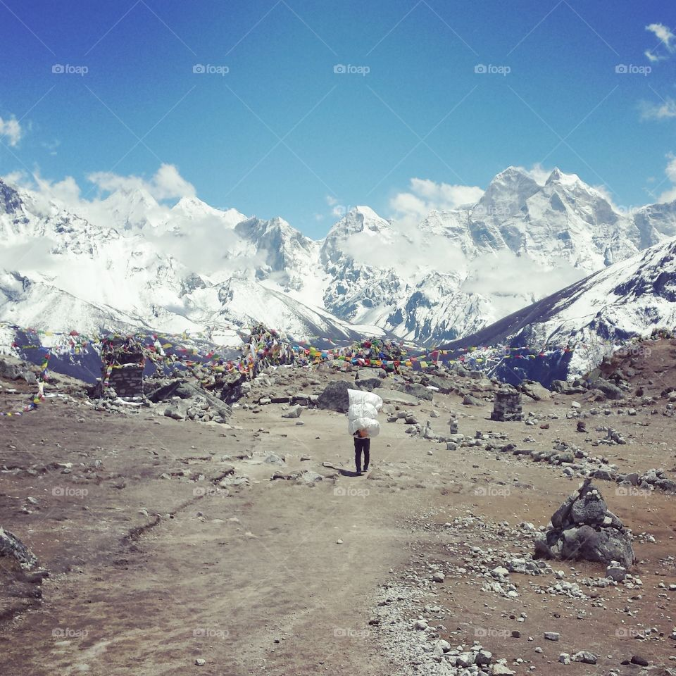 long way. on the ebc trek
