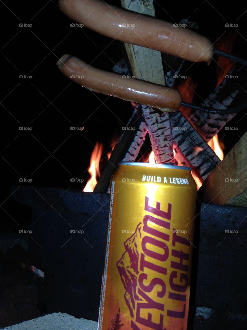 Campfire beer