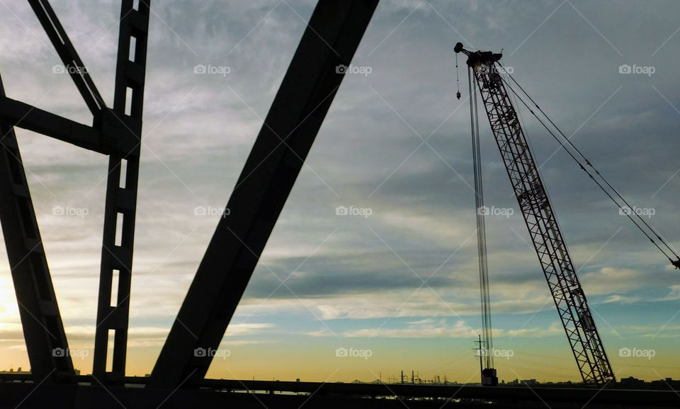 Construction of the new Champlain bridge