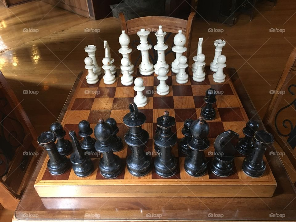 Chess Table - Lake Quinault Lodge