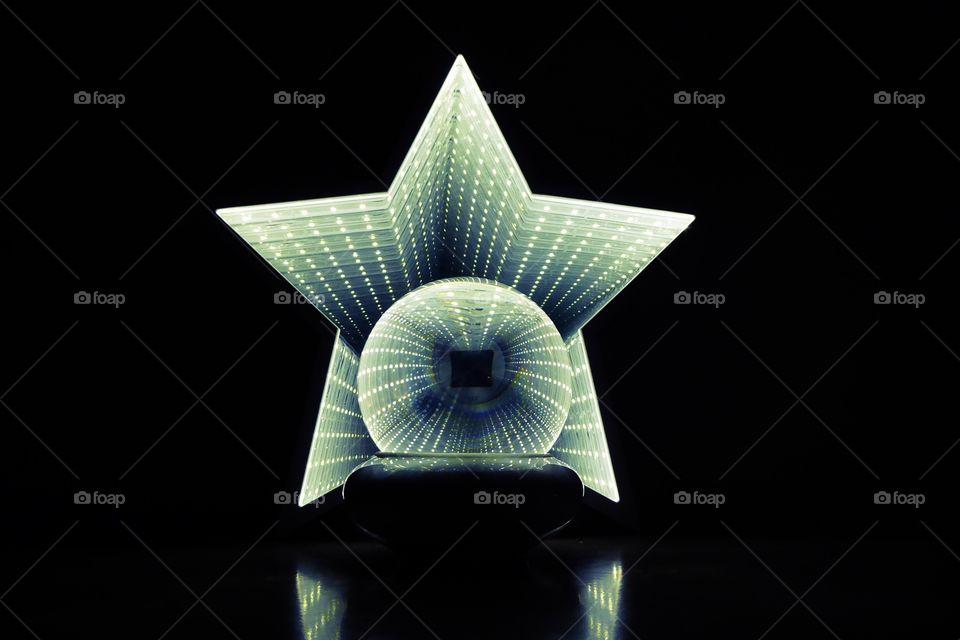Lensball with starlight