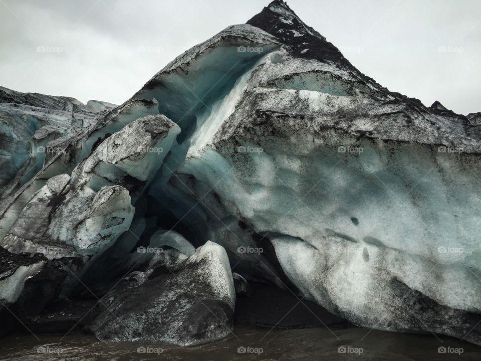 An arm of Myrdalsjokull glacier