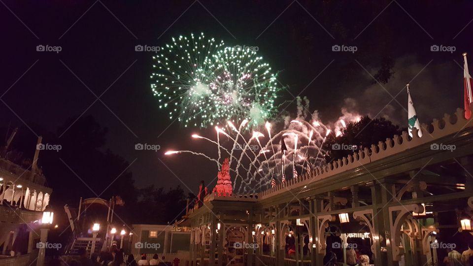 Disneyland Fireworks from Adventureland