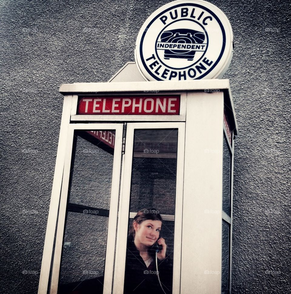 Girl in Phone Booth