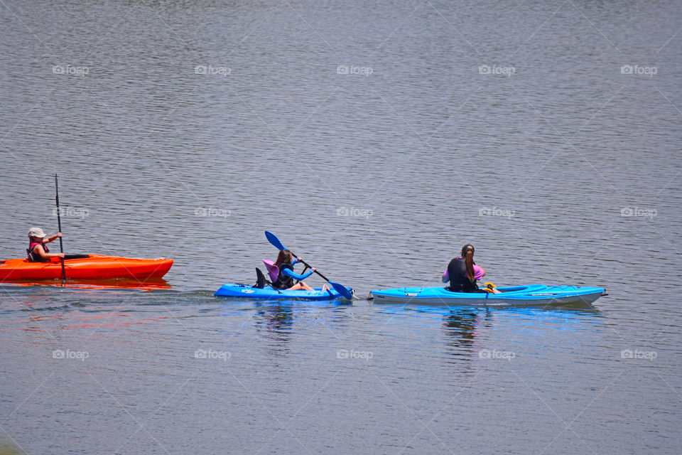 Kayaking in the summer.