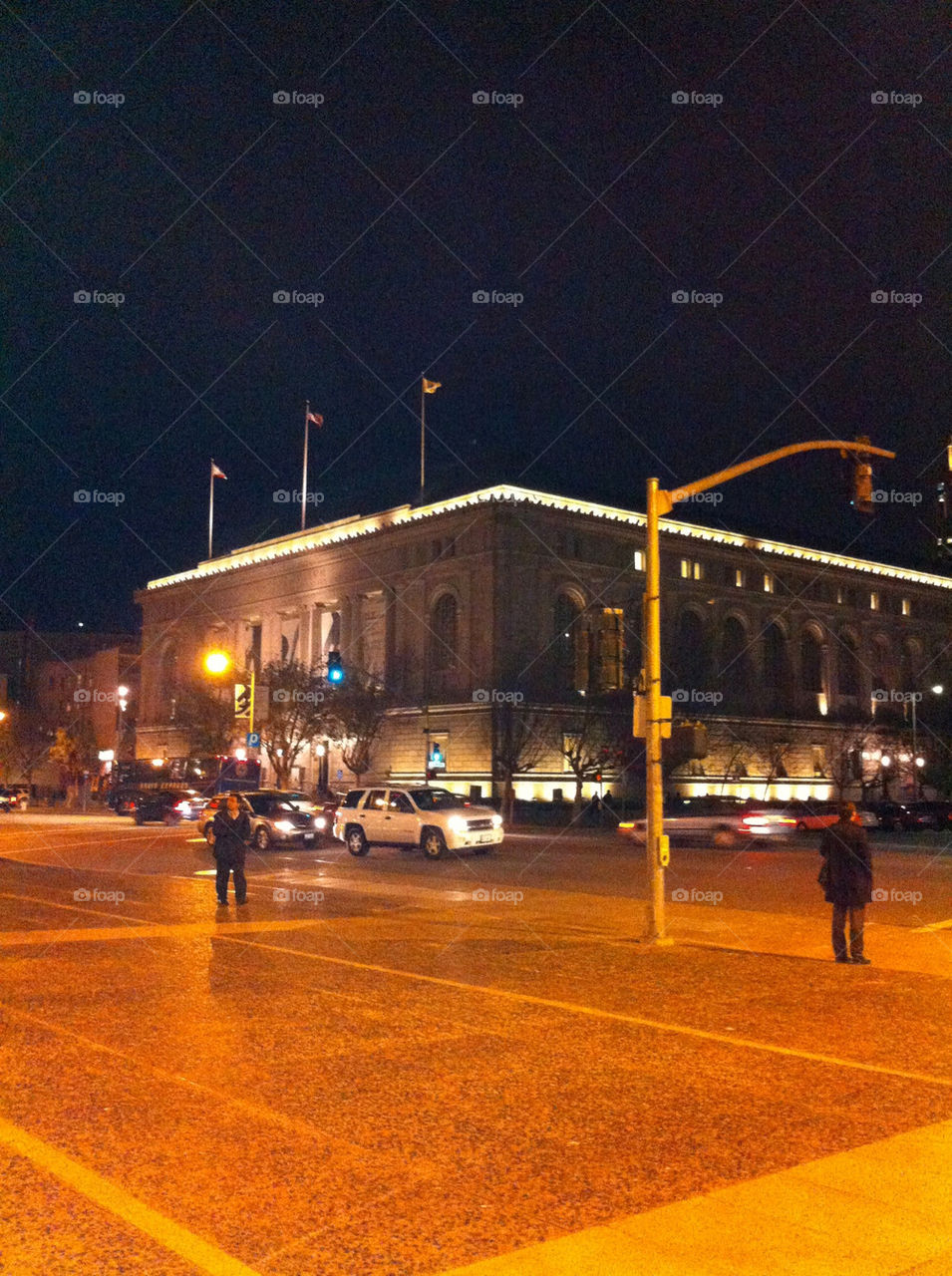 A picture at the Civic Center in San Francisco.