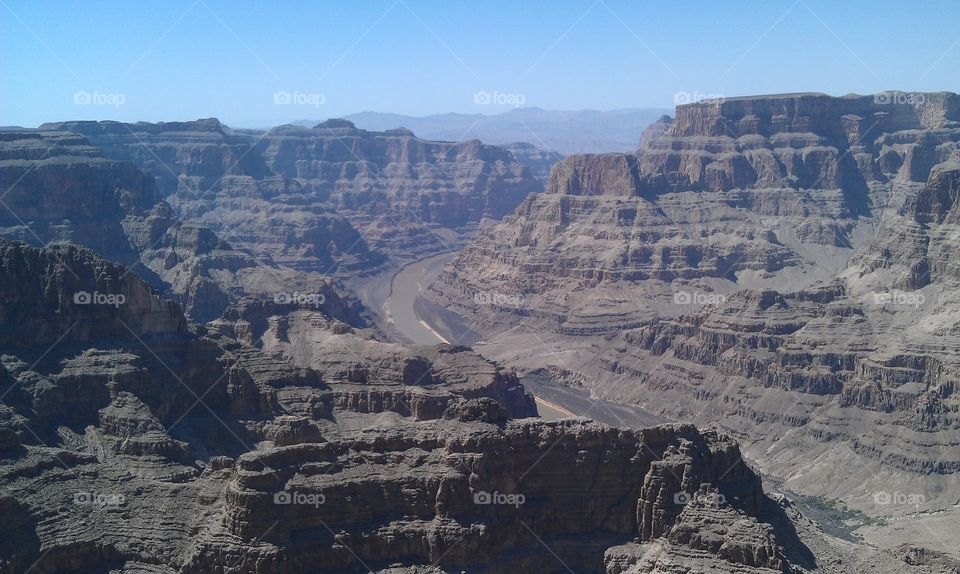 Grand Canyon West Rim. An amazing view I discovered after exploring The Grand Canyon Skywalk