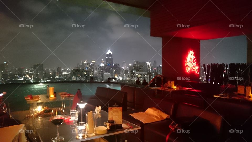 skyline. view from long table bangkok