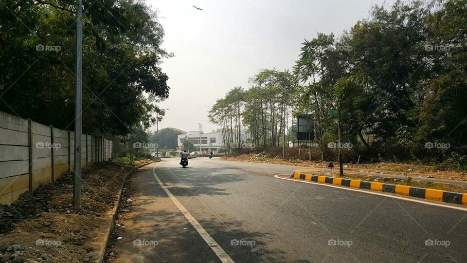 A developed Road in India